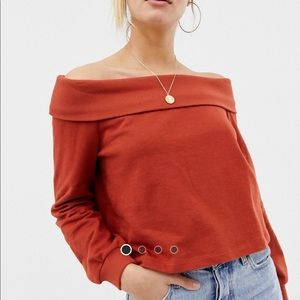 ASOS off shoulder sweatshirt